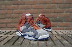 "Air Jordan 6 ""Ostrich & Denim"" by JBF Customs"
