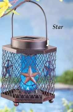 Bug Zapper Solar Lantern Kills Mosquitoes and other Insects Outdoor Home Decor