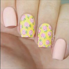 60 Spring Floral Nail Art Designs and Ideas Colors #springnails