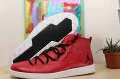 sale retailer 48351 564d6 Nike Jordan Galaxy Gym Red Leather Air Jordan Mens Basketball Shoes 820255- 601 for sale online   eBay