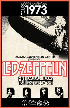 LZ North American Tour 1973 - Dallas, Texas