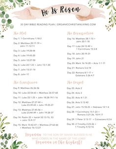 Easter bible reading plan for women topical bible study bible study lessons bible studies for beginners he is risen romans 8 11 romans print scripture floral printable bible verse print easter prints bible verse wall art easter wall decor Bible Studies For Beginners, Bible Study Lessons, Bible Study Plans, Bible Plan, Bible Journaling For Beginners, Scripture Reading, Scripture Study, Scripture Images, Christian Quotes For Women