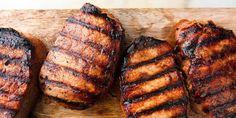 Grilled Pork Chops Horizontal