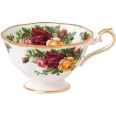 Royal Albert Old Country Roses Avon Tea Cup ($19) ❤ liked on Polyvore featuring home, kitchen & dining, drinkware, royal albert teacups, polka dot tea cups, floral tea cups, royal albert tea cups and royal albert