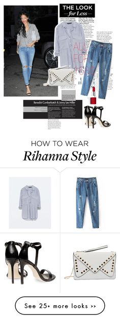 """""""GET THE LOOK FOR LESS: Rihanna."""" by fairouze on Polyvore"""