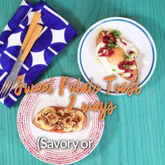 This weekend, get ready to brunch healthier! Whip up both of these sweet & savory sweet potato toast ideas Tap for the full recipes!