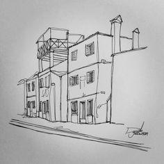 [펜화] Burano, Venice : 네이버 블로그