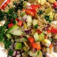 Kale, Quinoa, and Avocado Salad with Lemon Dijon Vinaigrette - Allrecipes.com