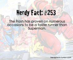 Nerdy Fact #253 Flash beats Superman