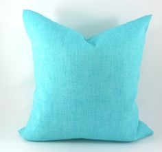 Baja Turquoise Solid Indoor/Outdoor Pillow Cover by MyPillowStudio