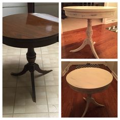 Refinished Distressed Table Using Mud Paint