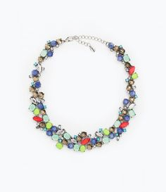 Colored statement necklace | theglitterguide.com