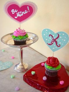 Heart-Shaped Cupcake Toppers - Easy Valentine's Day Projects: 4 Chic Crafts to Create on HGTV