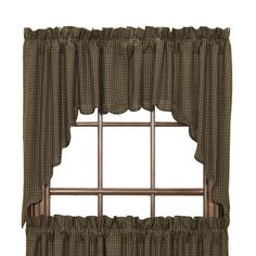 August Grove Millicent Plaid Scalloped Swag Curtain Valance
