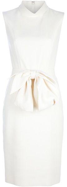 YVES SAINT LAURENT Belted Bow Dress