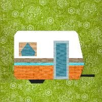 Quilting: Camping Trailer paper pieced block