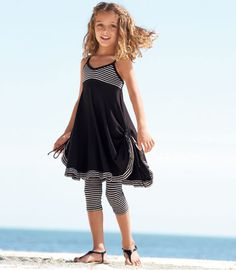 If my girls were still little, I would dress them in this licorice stripe dress set.  : )   chasing-fireflies.com
