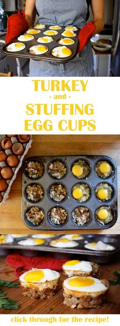 Make the most of the extra turkey and stuffing by using them to make these ingenious egg cups! Combined with eggs and some seasoning, these cups will make your busy post-Thanksgiving mornings so much easier. // breakfasts // black friday // recipes // leftovers // beachbody // beachbody blog