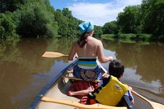 Paddling the Baraboo River...