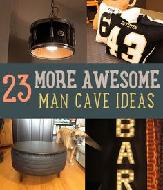 """Need a man cave? If you want the ultimate man cave, these man cave ideas will help you out. From decor to furniture, there's something for you to make! - Finish the look with our """"Man Cave"""" inspired designs at RoomCraft.com!"""
