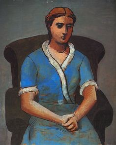"""Pablo Picasso - """"Woman in an armchair (Olga)"""", 1922"""