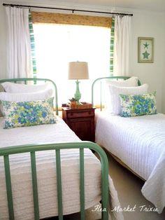 flea market trixie: Beach Cottage Twin Bedroom