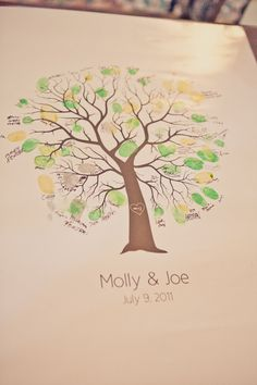 Items similar to Thumbprint Tree Guestbook - as seen on Style Me Pretty on Etsy April Wedding, Our Wedding, Dream Wedding, Wedding Ideas, Thumbprint Tree, Guest Book Tree, Beautiful Love Stories, California Cool, Unity Candle