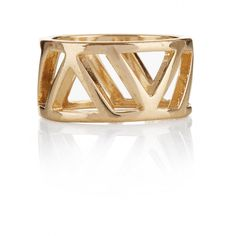Triangle Statement Ring Gold Mixed Metals, Statement Rings, Gold Rings, Triangle, Campaign