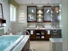 Image detail for -spa bathroom,spa bathroom design,spa bathroom decor,double vessel sink . Spa Design, Spa Bathroom Design, Spa Bathroom Decor, Guest Bathrooms, Dream Bathrooms, Bath Design, Beautiful Bathrooms, Home Design, Bathroom Ideas
