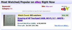 auction meme   HP Touchpad Drawing eBay Auction