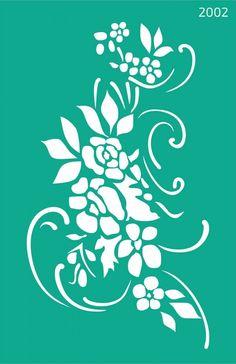 Трафарет самоклеющийся 13х20см №2002 Цветы
