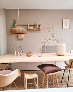 Dining Table With Bench, Table Accessories, Industrial House, Living Room Inspiration, Soft Furnishings, Sweet Home, New Homes, Interior Design, House Styles