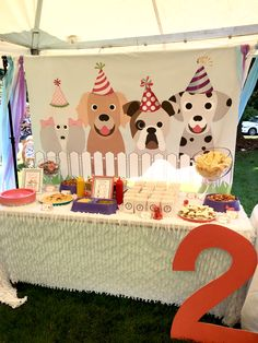 Carolynes Puppy Party Puppy Party Dog Themed Parties pertaining to Amazing Puppies Birthday Party - Party Supplies Ideas Dog Themed Parties, Puppy Birthday Parties, Puppy Party, Birthday Party Decorations, Dog Party Themes, Party Ideas, Birthday Ideas, Birthday Celebration, Happy Birthday