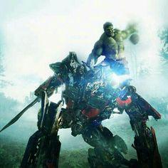optimus vs. hulk