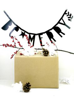 #Wordbanner #tip: Be Merry  - Buy it at www.vanmariel.nl - € 11,95