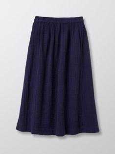 Frill Skirts, Pleated Skirt, Denim Skirt, Skater Skirt, Midi Skirt, The Struts, Elastic Waist, Stylists, Cotton