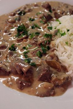 Beef Stroganoff - My Cooking Diary- Beef Strogonoff Meat Recipes, Mexican Food Recipes, Cooking Recipes, Healthy Recipes, Comidas Lights, Chilean Recipes, Deli Food, Good Food, Yummy Food