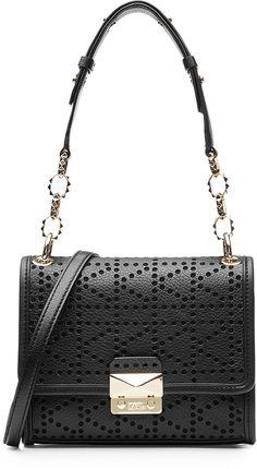 Karl Lagerfeld K/Perforation Leather Shoulder Bag