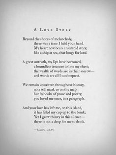 langleav:  New poem, hope you like it! ♥  ……………. My new book Lullabies is now available via Amazon, BN.com + The Book Depository and bookstores worldwide.
