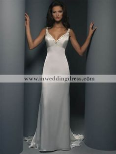 simple wedding dress. Like the front...Low back would b perfect!