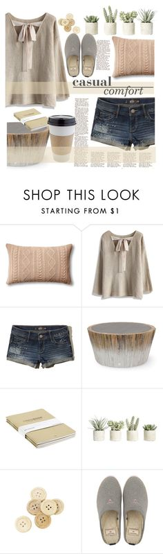 """Untitled #205"" by senalica ❤ liked on Polyvore featuring Johanna Howard, Chicwish, Hollister Co., Palecek, OUTRAGE, Allstate Floral, C.R.A.F.T. and GANT"