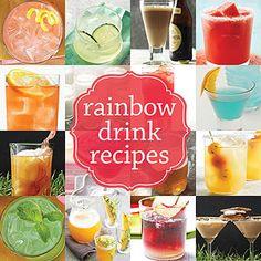 Gorgeous Rainbow Drink Recipes