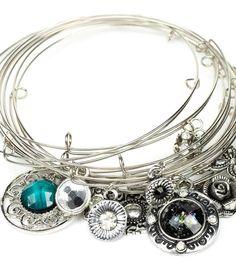 Arm Party Bracelets | DIY Bracelet | Find charm bracelet inspiration from @J O-Ann Fabric and Craft Stores charm bracelets, craft stores, memori wire, diy bracelet, memory wire bracelets