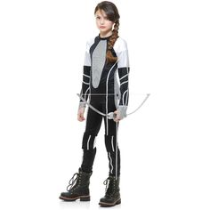 District 12 Costume Girls Jumpsuit