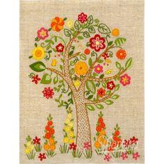 """НКШ-4004 Наборы для вышивания нитками (декоративные швы) Марічка """"Цветущее дерево"""""""