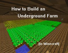 Are villagers, animals and hostile mobs trampling your crops in Minecraft? Are your friends raiding your farm for food? Learn how to build your farm underground, with tips about water blocks and using redstone lamps for lighting! Minecraft Garden, Minecraft Farm, How To Play Minecraft, Minecraft Buildings, Minecraft Stuff, Minecraft Tips And Tricks, Minecraft Redstone, Minecraft Pictures, Minecraft Construction