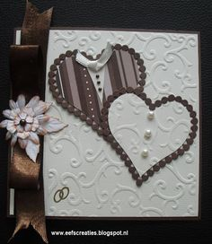 Wedding card  gebruikte materialen : multiframe nellie Snellen. Embossing achtergrond ;Avec