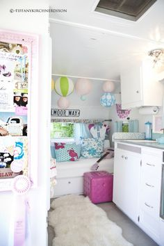 Adorable remodel of a 1950's camper.