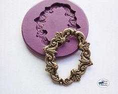 De Colección Broche de Silicona Molde//Marco Oval Molde-Hielo-victoriana Lady camafeo//Cake Topper