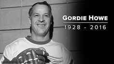 "Gordie Howe One of the best to ever lace up for the NHL. ""Mr Hockey"" will be missed Stars Hockey, Ice Hockey, Detroit Sports, Detroit Area, Steve Yzerman, Olympic Hockey, Red Wings Hockey, Hockey World, Hockey Quotes"